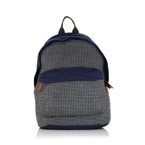 Red Herring - Navy checked panel backpack