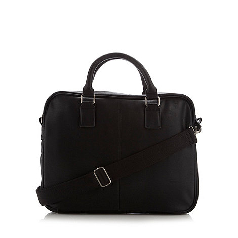 Red Herring - Black faux leather work bag