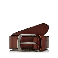 RJR.John Rocha - Big and tall brown leather belt