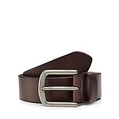 RJR.John Rocha - Big and tall dark brown leather belt