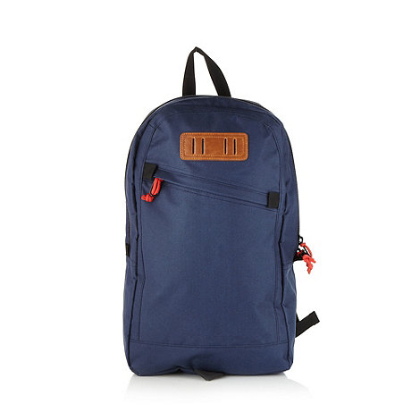 Mantaray - Navy canvas zip detail backpack