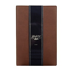 Mantaray - Brown faux leather 2014 diary