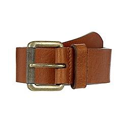 Mantaray - Tan distressed leather belt