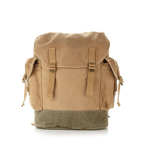 Mantaray - Beige canvas backpack