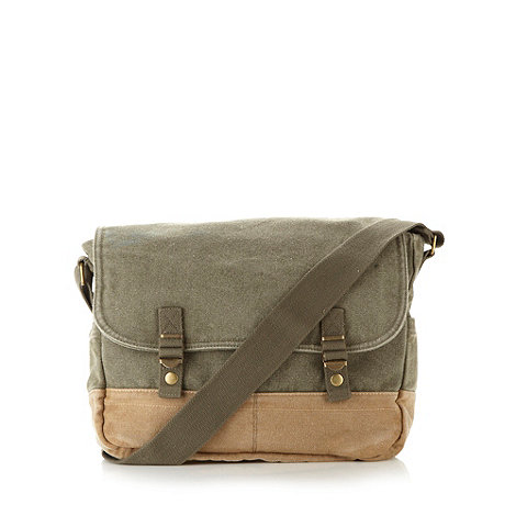 Mantaray - Khaki canvas satchel bag
