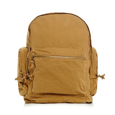 Mantaray - Mustard canvas pocket rucksack