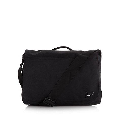 Nike - Black jacquard logo tab bag