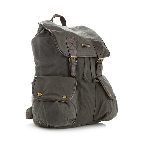 Weird Fish - Khaki waxed backpack