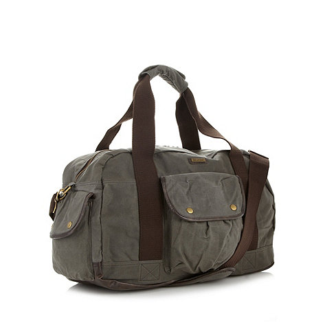 Weird Fish - Khaki canvas weekender bag