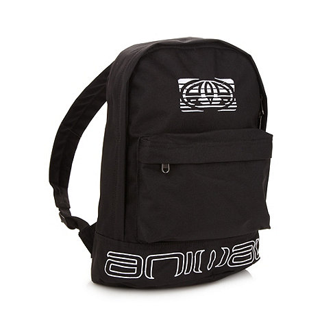 Animal - Black embroidered logo backpack