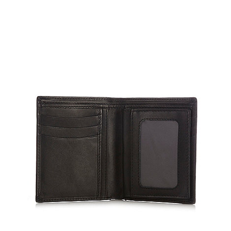 Dents - Black rectangular leather wallet in a gift box