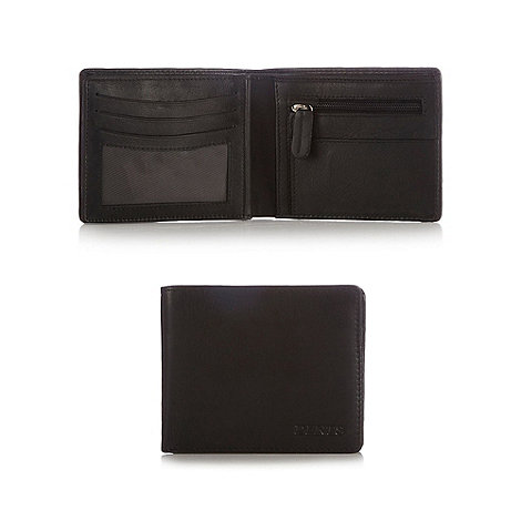 Dents - Black debossed leather wallet