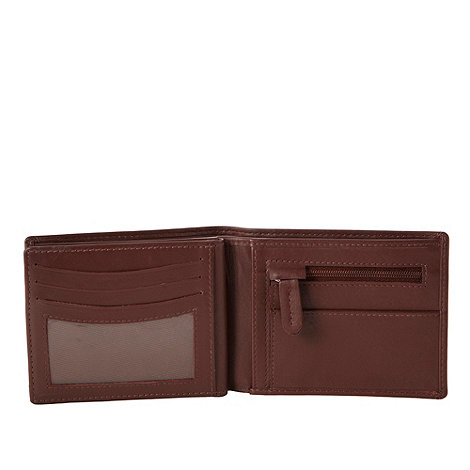 Dents - Brown debossed leather wallet