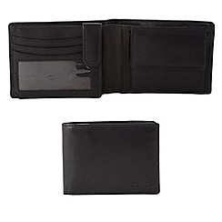 Dents - Black debossed matte leather wallet