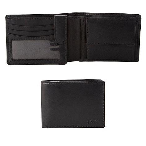 Dents - Black debossed matte leather wallet