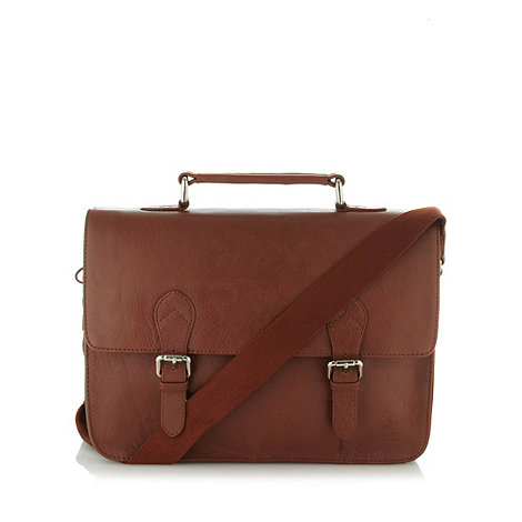 Osprey - Brown leather briefcase