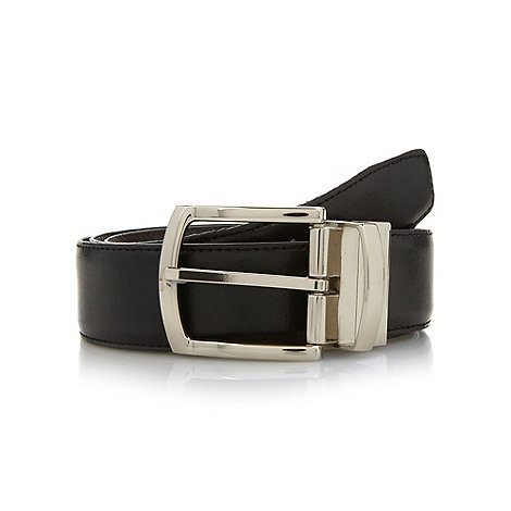Hammond & Co. by Patrick Grant - Designer black reversible leather belt