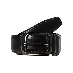 Hammond & Co. by Patrick Grant - Designer black coated leather belt
