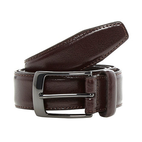 Hammond & Co. by Patrick Grant - Designer dark brown coated leather belt
