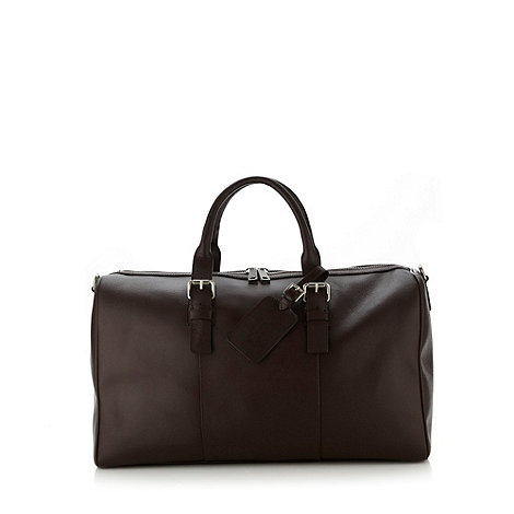 Hammond & Co. by Patrick Grant - Designer brown grained leather holdall bag