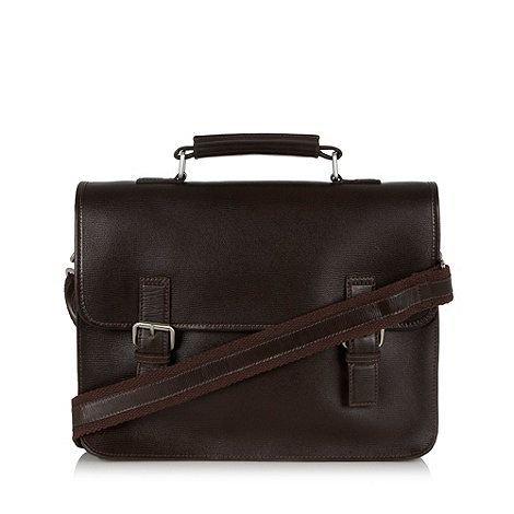 Hammond & Co. by Patrick Grant - Designer brown grained leather satchel