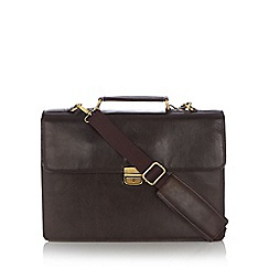 Osborne - Brown leather briefcase