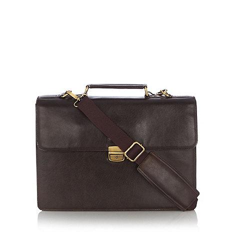 Osborne - Brown leather briefcase
