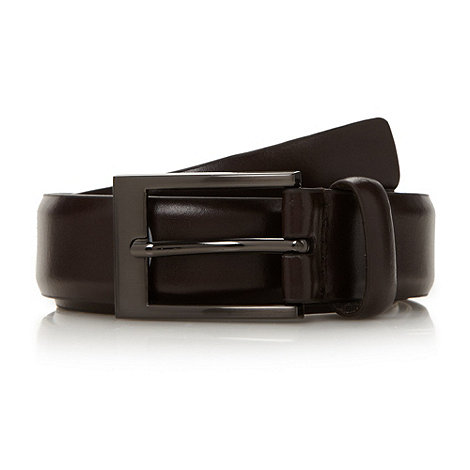 Thomas Nash - Brown coated leather belt