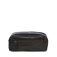 J by Jasper Conran - Dark brown leather washbag