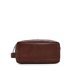 J by Jasper Conran - Brown leather wash bag
