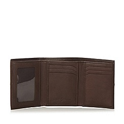 J by Jasper Conran - Designer brown leather stitch trifold wallet
