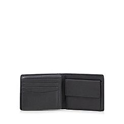 Jeff Banks - Designer black leather billfold wallet