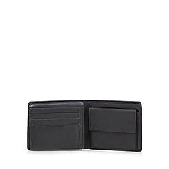 Jeff Banks - Designer black leather billfold wallet