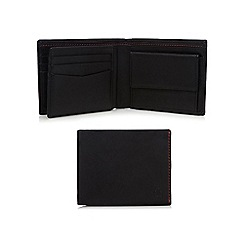Jeff Banks - Designer black leather stitched wallet