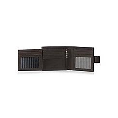 Jeff Banks - Designer dark brown leather flip wallet