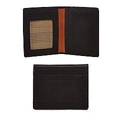 Mantaray - Brown leather credit card holder