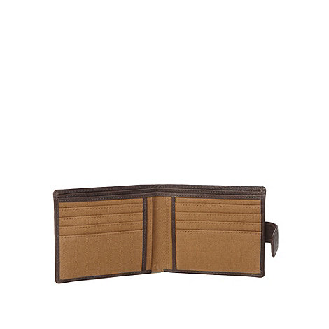 Mantaray - Brown leather tabbed wallet