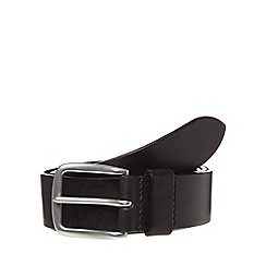 Hammond & Co. by Patrick Grant - Big and tall designer black italian leather belt