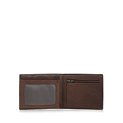 Thomas Nash - Brown popper tab leather wallet