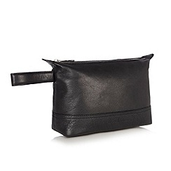 J by Jasper Conran - Designer black leather wash bag