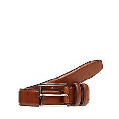 Maine New England - Tan leather buckle belt