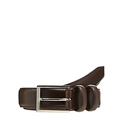 Maine New England - Brown leather double keeper belt