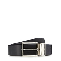 J by Jasper Conran - Big and tall designer black reversible leather belt