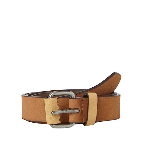 Red Herring - Tan suede leather belt