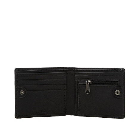 Animal - Brown embossed multi logo wallet