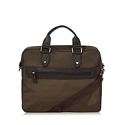 J by Jasper Conran - Designer khaki fabric laptop bag