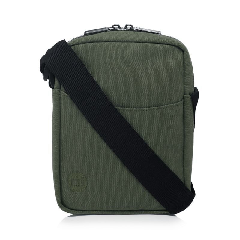 Mi-Pac - Khaki Canvas Cross Body Bag