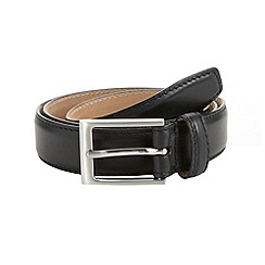 J by Jasper Conran - Designer black italian leather formal belt