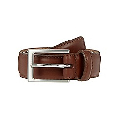 J by Jasper Conran - Big and tall designer tan silver pink buckle belt