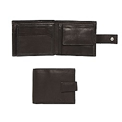 J by Jasper Conran - Designer black leather tab wallet